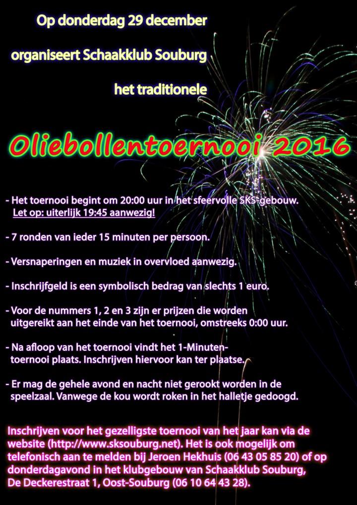 Aankondiging Oliebollentoernooi 2016